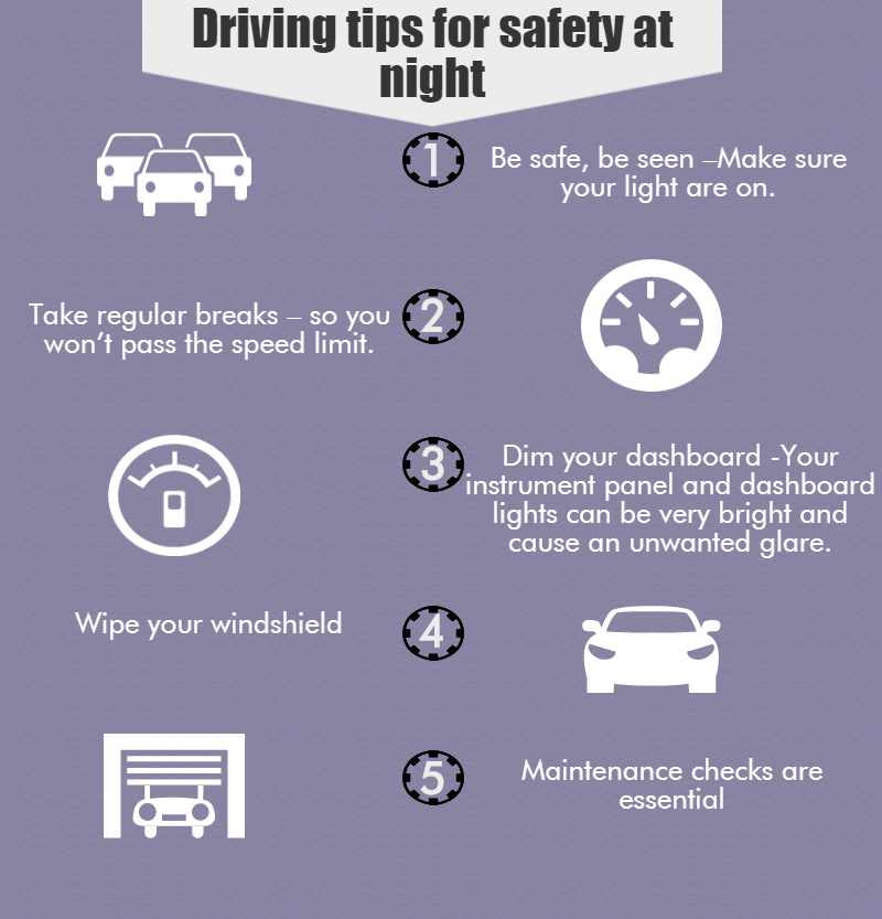 Driving Tips For Safety at Night